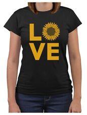 Love Sunflower Shirt for Women Teen Girls Cute Summer Women T-Shirt