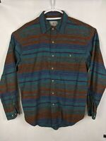 The Territory Ahead Mens Long Sleeve Western Striped Shirt LARGE Size