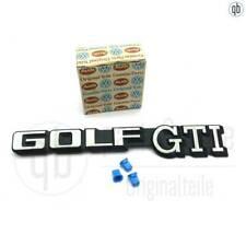 Original VW Schriftzug Emblem Golf GTI MK2 bis 87 191853687C + 3x 191853615A