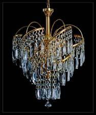 Lustre plafonnier avec véritable cristal au plomb Or ou couleur argentée