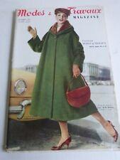 magazine Modes et Travaux n° 671  Novembre 1956 + patron