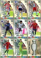 PANINI ADRENALYN XL UEFA EURO 2020 set of MASTER RARE CARDS - EUROS