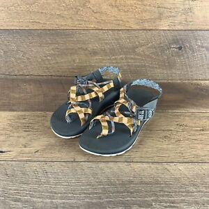 NIB Chaco Z/Cloud X2 Remix J106450 Poppy Orange Double Strap Sandal Women's 8 US