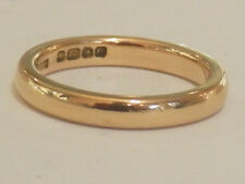Stunning 22ct Rose Gold Wedding Band, Small Size K Full  Hallmarks A5345