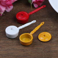 1:12 Dollhouse Miniature Metal Cooking Pot Cookware Doll House Accessor Tw