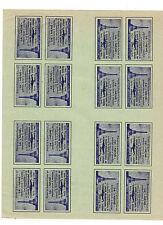 1946 Le Nene November Paris France Air Show Exposition Sht 16 stamps Labels RARE