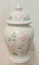 SADLER Wild Rose Flower Ginger Jar CIRCA 1960  MADE IN ENGLAND Floral Lid