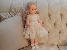 "Vintage 17"" Plastic Doll with Clothes & Shoes Golden Blond Hair"