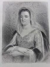 GRAVURE 1862 signée Staal / MADAME DE MAINTENON