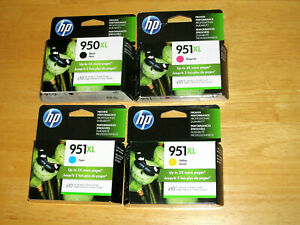 HP 950XL 951XL CARTRIDGES ( Black, Cyan, Magenta, Yellow *NEW Genuine)