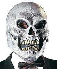 Silver Skull Mask Skeletor Skeleton Halloween Fancy Dress