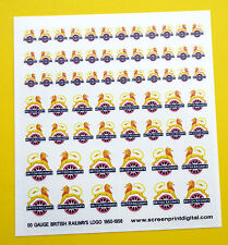 British Railways Logo High Detail Stickers Decals Model Railway OO Gauge 1950-56