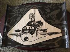 "Large Vintage Space Shuttle Poster Negative - 43 1/2"" X 30"""
