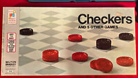 Checkers Vintage Board Game  1970 Milton Bradley  COMPLETE GAME.