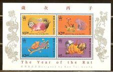 Mint Hong Kong1996 Year of the Rat Souvenir sheet (MNH)