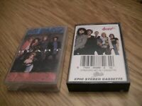 Heart 2 Cassette Lot: Greatest Hits/Live and Self Titled