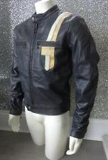 "Belstaff ""OUTLAW"" BLACK Label Prototype Dark Bluish Grey Leather Jacket UK Large"
