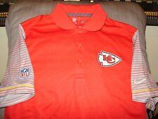 15fe6bec7 NFL Kansas City Chiefs NIKE Dri Fit Early Season Red Polo Golf Shirt Men s  Small