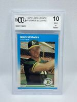 1987 Fleer Update  #U-76 Mark McGwire Oakland A's RC Rookie BCCG GEM MINT 10!