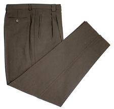 New Tallia Galoppo Floriano Brown Virgin Wool Dress Pants 56/40 Fits 38 NWT $295