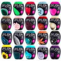 22 Colours Dylon Fabric & Clothes Dye, Dylon Machine / Hand Dye Black, Navy Blue