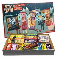 Veganer Advent Geschenkpaket 24 Fitnessriegel und Milchfreie Schokolade
