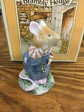 Royal Doulton Brambly Hedge Mouse Figurine Wilfred Toadflax 1982 Mint