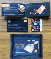 2G 3G Orange UK Pay As You Go Sim Card Simcard, Old Type, Brand New, Sealed