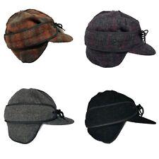Wyoming Traders Yukon Fold Down Ear Flaps Outside Seams Australian Wool Cap Hat