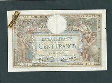 BILLET 100 FRANCS LUC OLIVIER MERSON TYPE 1906   1932