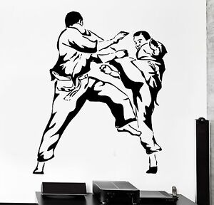 Wallpaper Karate Martial Arts Vinyl Wall Stickers Home Decal Sport Poster Decor