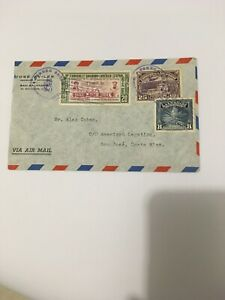 Airmail Cover El Salvador Stamps 1941 to Costa Rica.