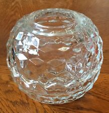 Vintage Homco Clear Glass Round Ball Cubist Fairy Candle Lamp