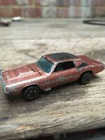 Vintage Hot Wheels Redline Custom T Bird 1967 Mattel Copper Metallic Brown