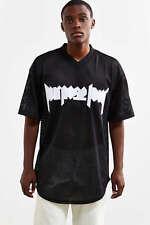 Purpose Tour Justin Bieber Urban Outfitters Mesh Jersey V-Neck Tee-Medium
