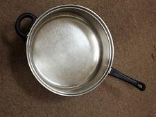 "Nice big Stainless Steel Deep Saute 12"" Fry Pan, stay cool handles, NO lid"