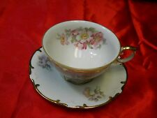 Schumann Arzberg Bavaria Germany Wild Rose Tea Cup and Saucer
