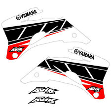 Yamaha Retro Shroud Graphics YZF250 YZF450 2006-2009 White/Red