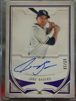 JAKE BAUERS TAMPA BAY RAYS 2019 TOPPS DEFINITIVE ROOKIE AUTOGRAPH BLUE SSP 02/10