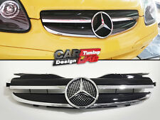 Front Grille Grill 2 FIN ( 1 FIN LOOK) For 97~04 Mercedes Benz R170 SLK 230 320