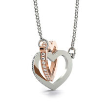 Mother Daughter Necklace Interlocking Heart Pendant Birthday Gift For Women P19