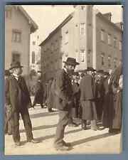 Deutschland, Bad Tölz  Vintage citrate print. Vintage Germany  Tirage citrate