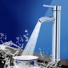 Mono Mixer Tap 30cm Tall Single Handel Bathroom Sink Basin Faucet Chrome Brass