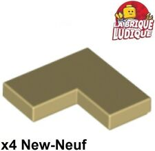 Lego - 4x Tile plaque lisse 2x2 corner coin angle beige/tan 14719 NEUF