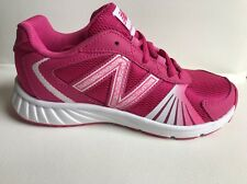 New In Box New Balance Sneaker KJ555PPY YOUTH Kids Girls Sz 13 Pink White