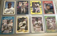 1990 Barry Bonds 14 Card Lot - Donruss, Fleer, Leaf, Topps Upper Deck & More