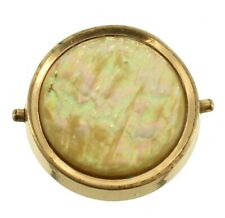 Pin Button Golden Abalone Mechanical Snap Antique 1875 Gf Gold Filled Lapel