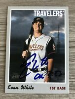 Evan White Signed 2019 Topps Heritage Minors Autographed Auto Card Mariners #1