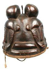 Art Africain Ancien Masque Casque Koulango 4 Visages - Collectionneur d'Afrique