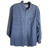 Rogue Product Mens Blue Denim Shirt Long Sleeves Size XL